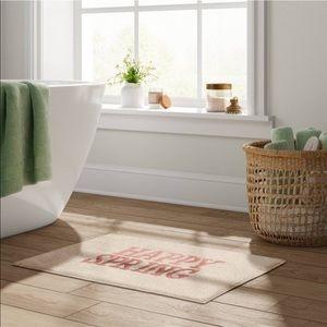 Happy spring pink bath rug threshold 17x24 new